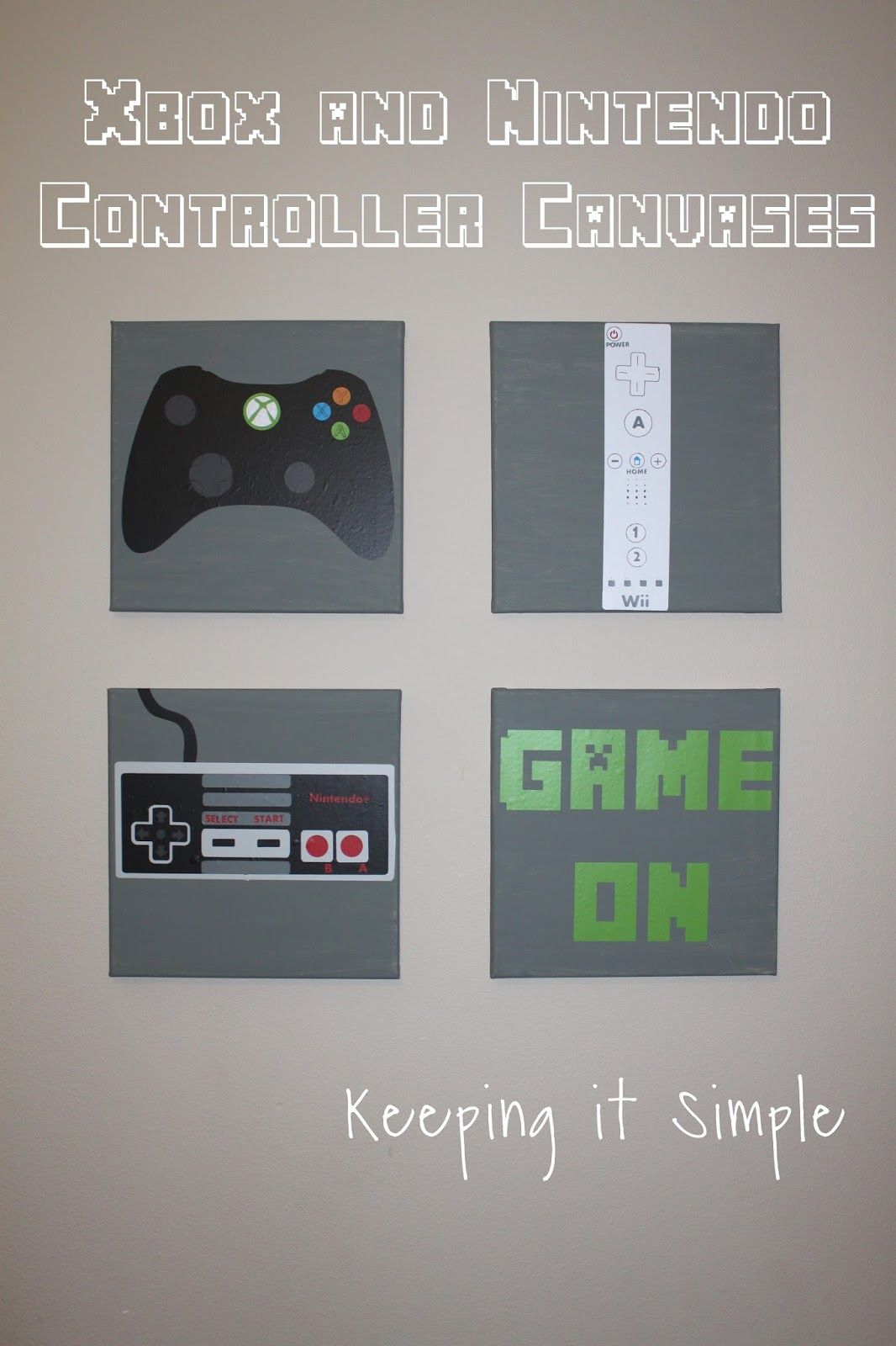 Boys Game Room Bedroom Decor Xbox And Nintendo