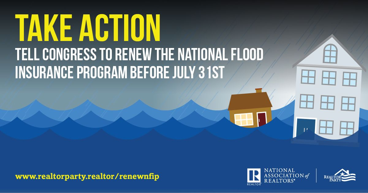 The National Flood Insurance Program (NFIP) will expire on