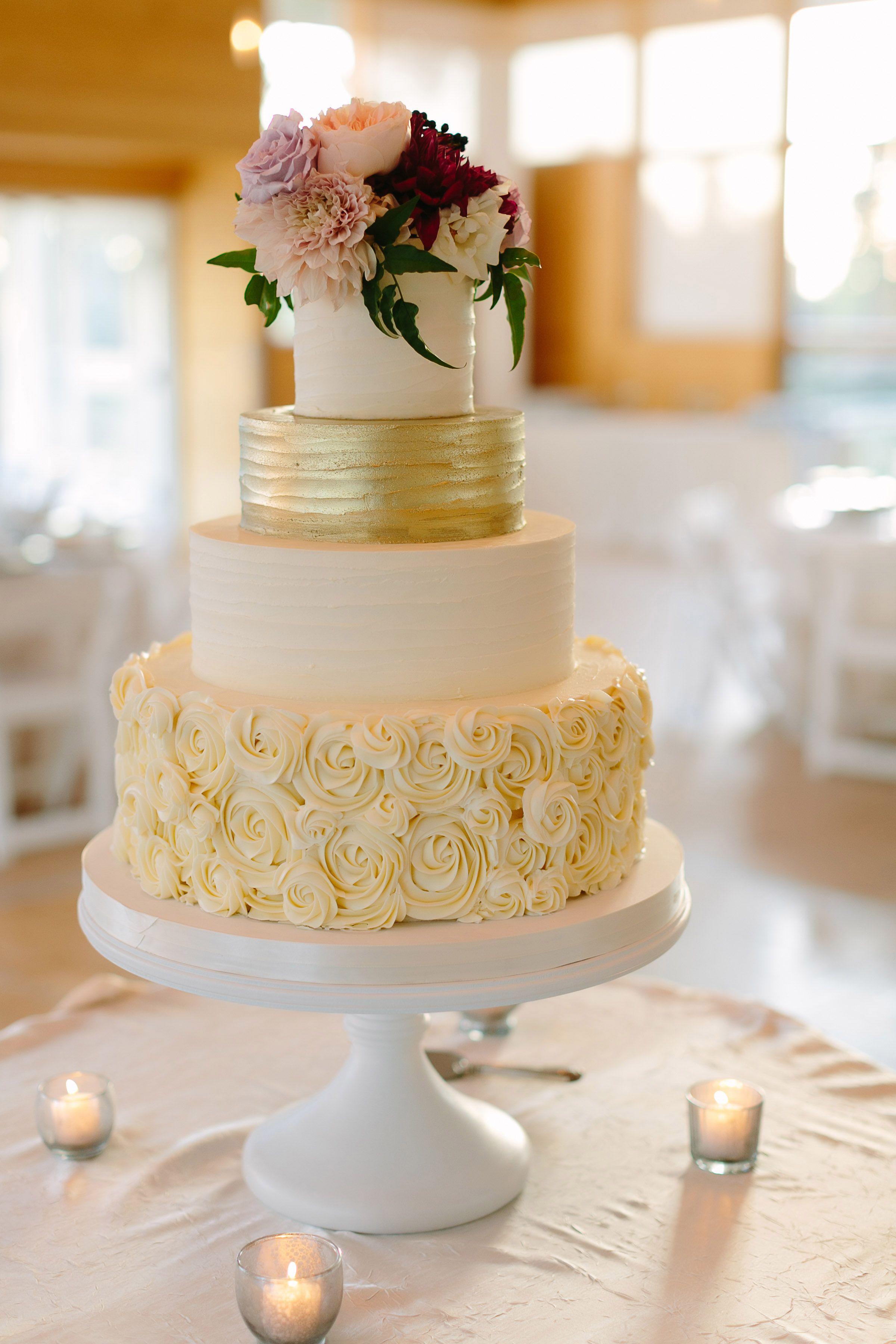 Amy Beck Cake Design Buttercream textured wedding cake | Photo ...