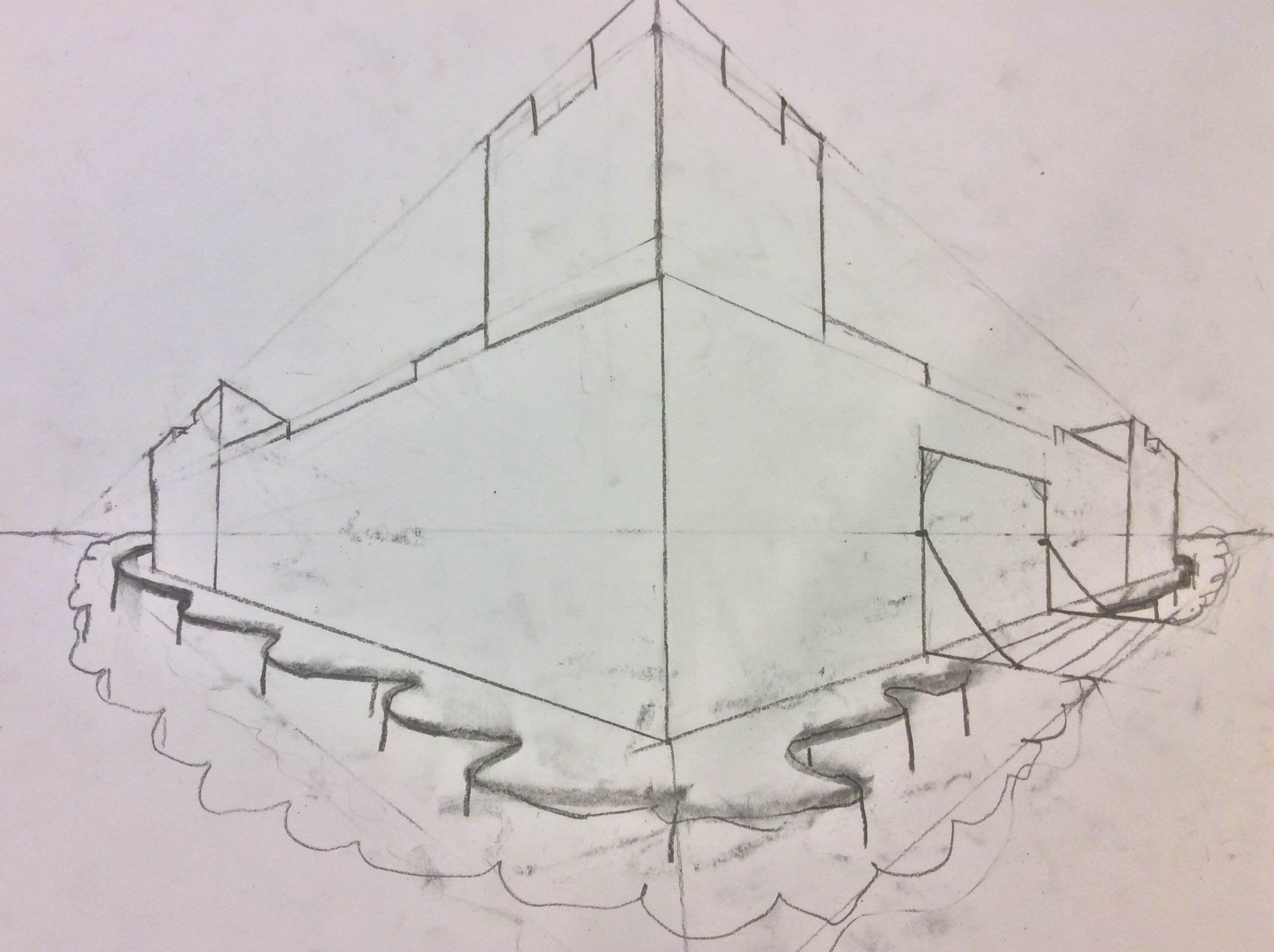 2 puntsperspectief 2 puntpersperctief pinterest for Schilderen voor gang d