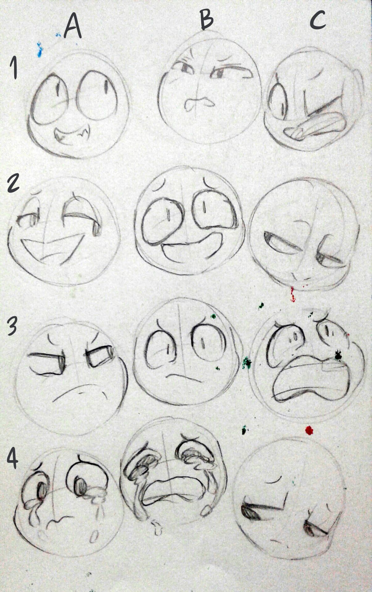 These Expressions Remind Me Of One Of My Characters So I Will Just Take These Thx Drawing Expressions Art Sketches Drawing Base