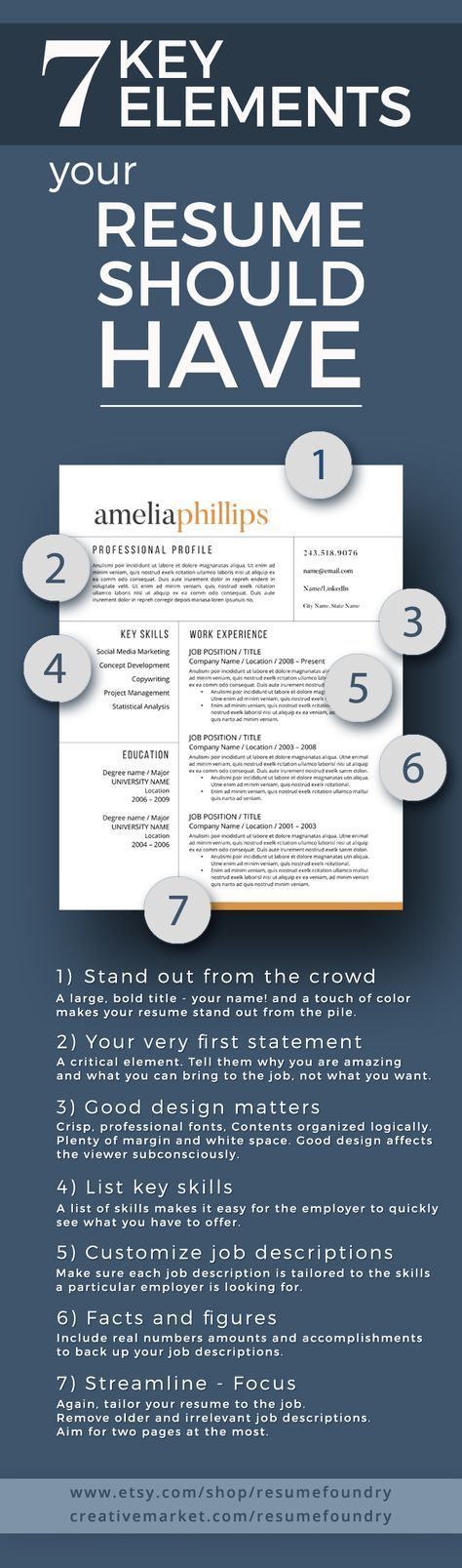 7 Key Elements your resume should have - does yours? Me - elements of a good resume