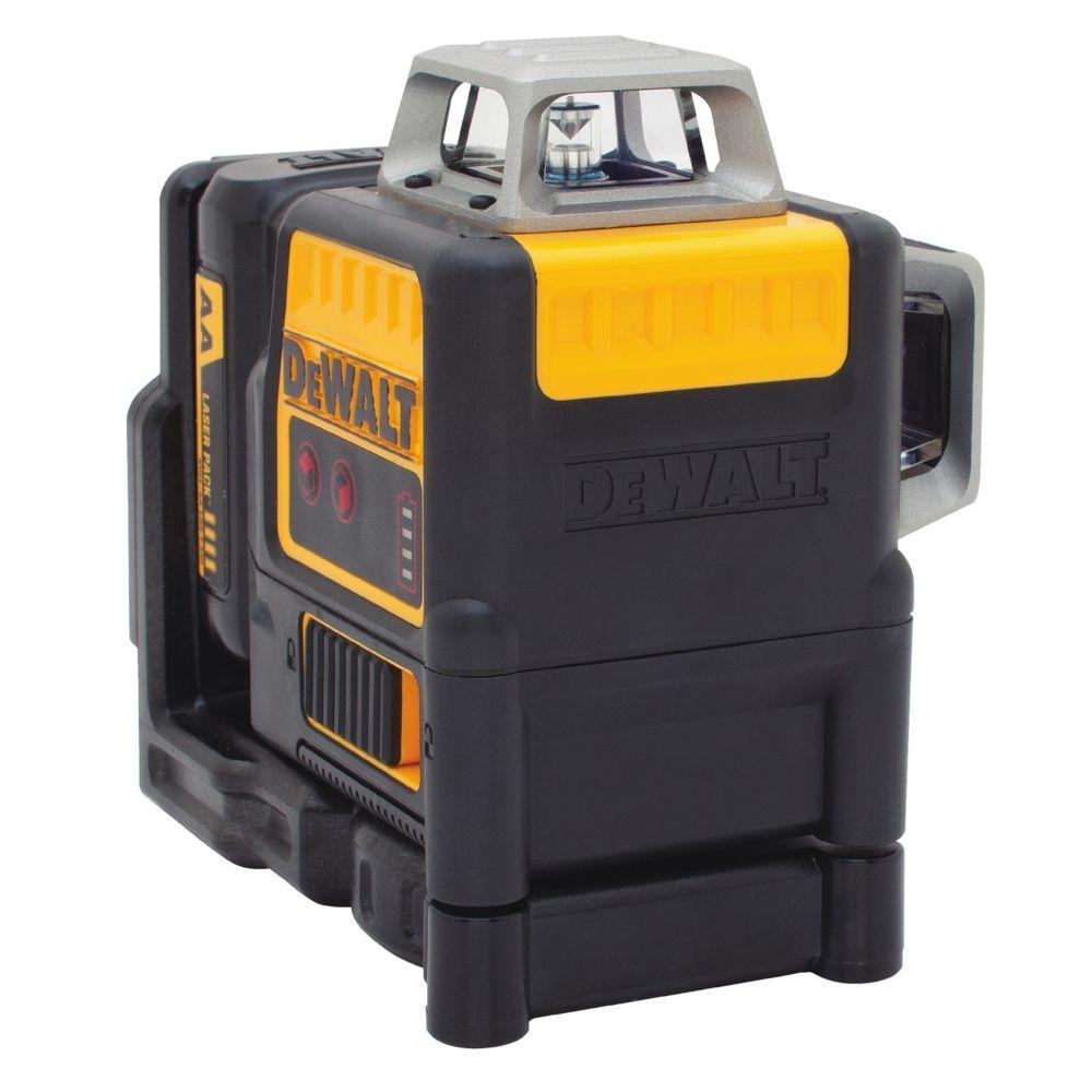 150 Ft Red Self Leveling 2 X 360 Degree Line Laser Level With 4 Aa Batteries Case Laser Levels Dewalt Laser
