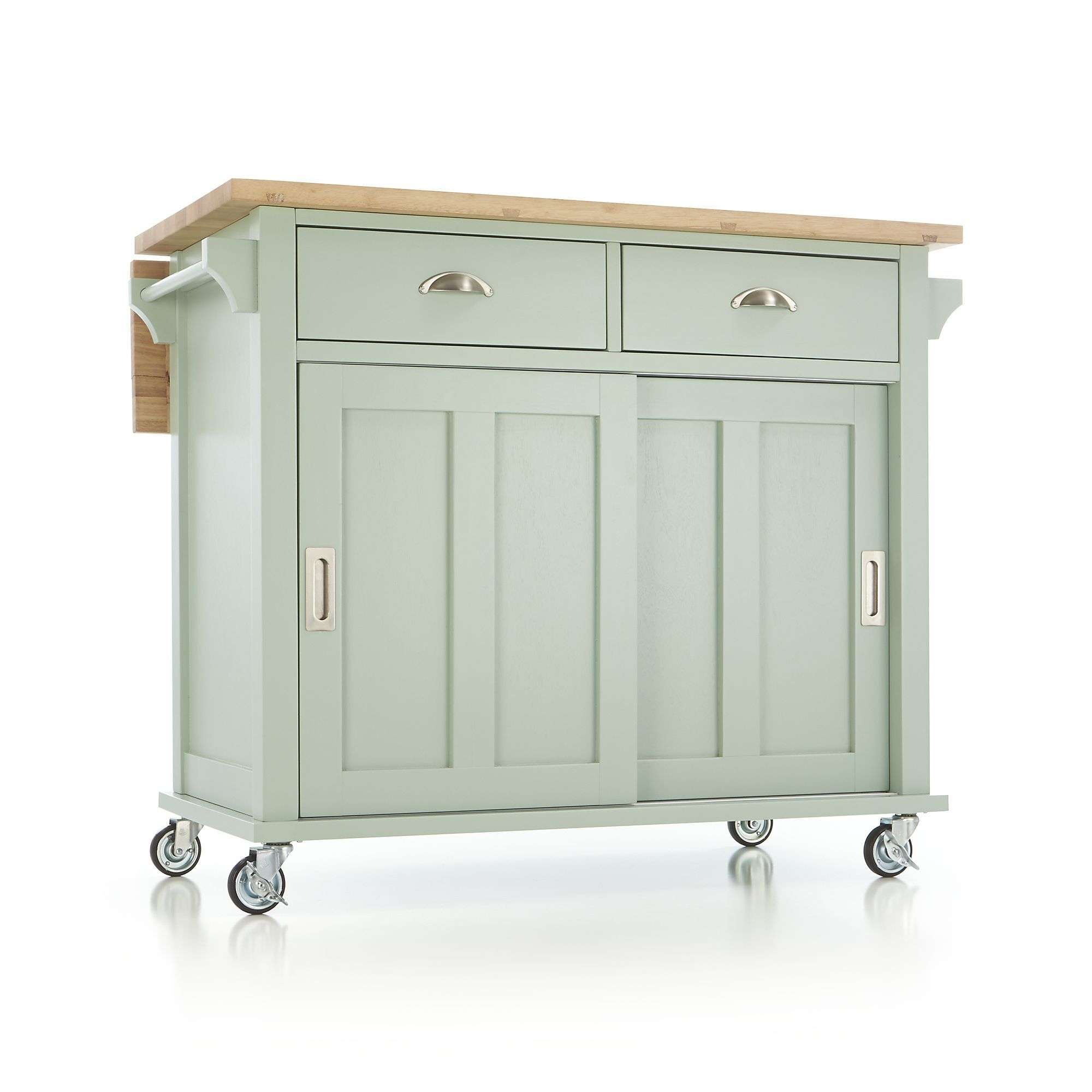 Belmont Mint Kitchen Island Cart Crate And Barrel House
