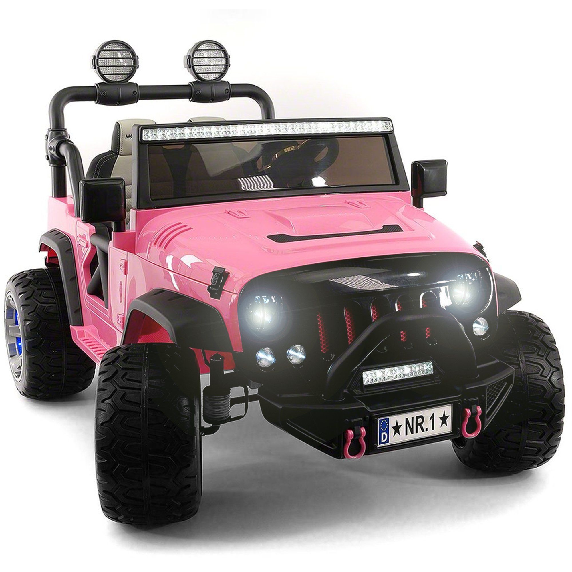 2020 Two 2 Seater Ride On Kids Car Truck W Remote Large 12v Battery Rubber Tires Pink In 2020 Battery Powered Car Power Cars Kids Ride On