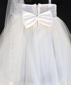 Cute ivory bow on the back #flowergirl #weddingdress #cheapflowergirldress #girlsdresssale
