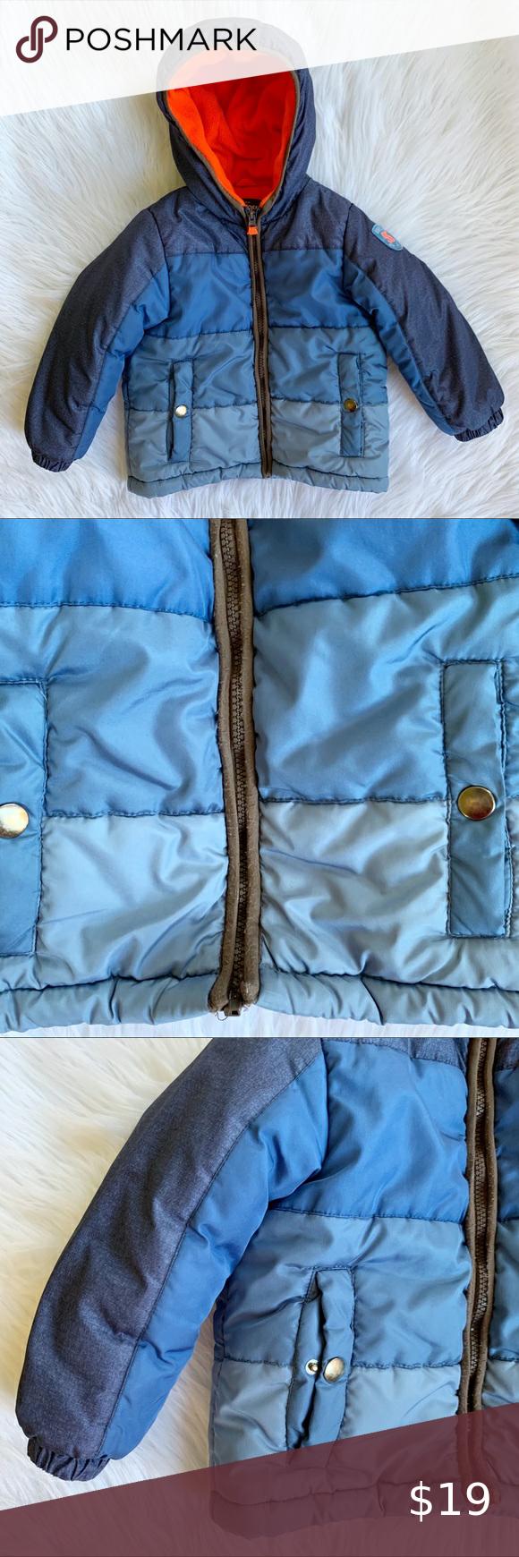 Oshkosh B Gosh Blue Boys Puffer Jacket Size 5t Boys Puffer Jacket Pink Puffer Coat Pink Camo Jacket [ 1740 x 580 Pixel ]