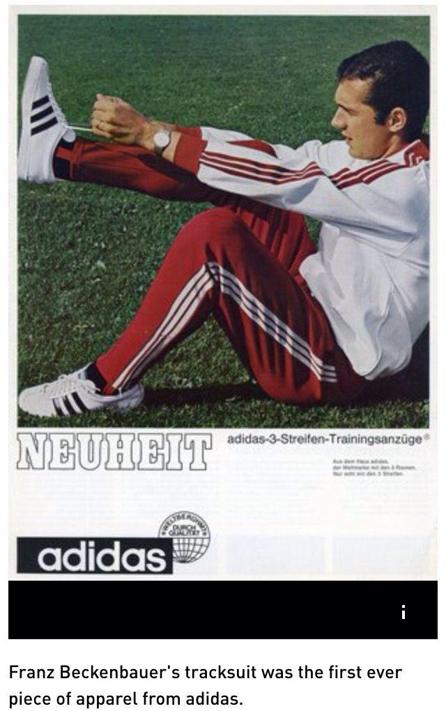 sale retailer a3397 1d2e3 Adidas Franz Beckenbauer tracksuit the first ever adidas apparel.