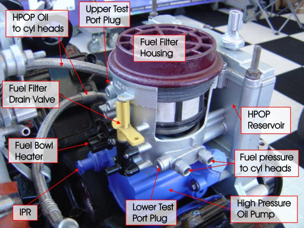 hight resolution of ford diesel fuel filter location