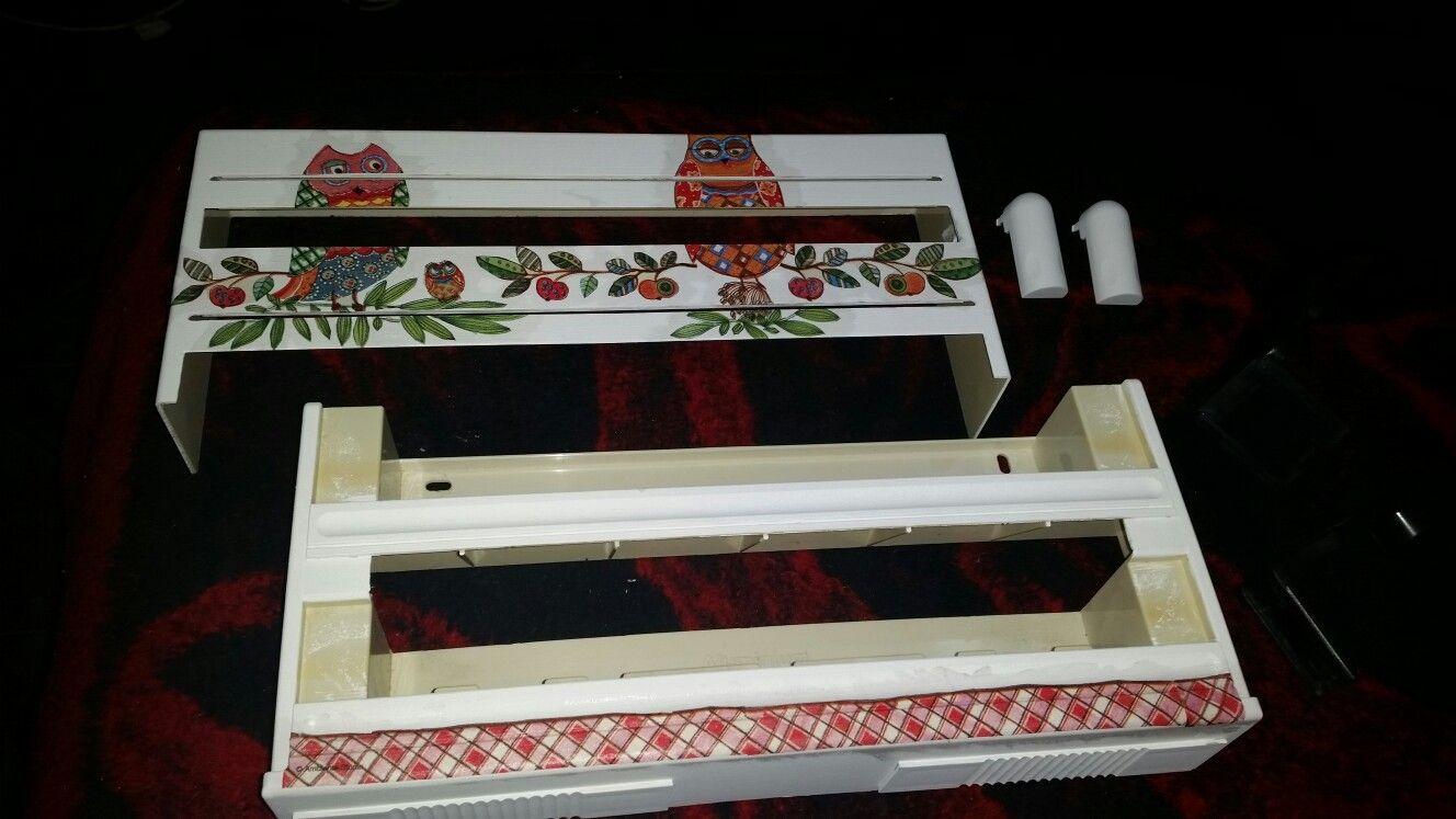 Porta rollo de cocina de 3 estilos con cortante de film y aluminio