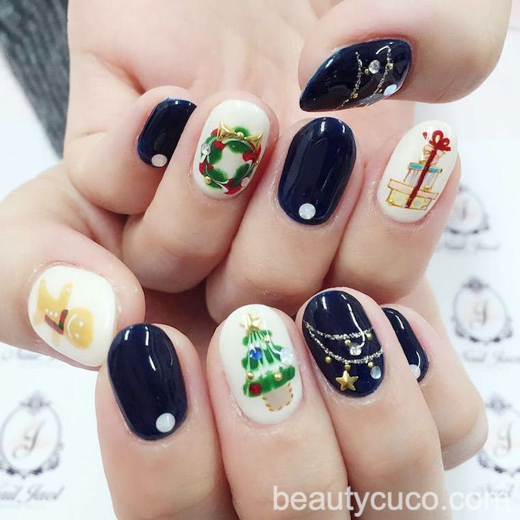 60 Cute Christmas Art Designs New Year Nail Ideas for 2020