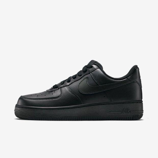 meilleur service 46b5e f1d3e Chaussure Nike Air Force 1 Pas Cher Femme 07 Noir Noir ...