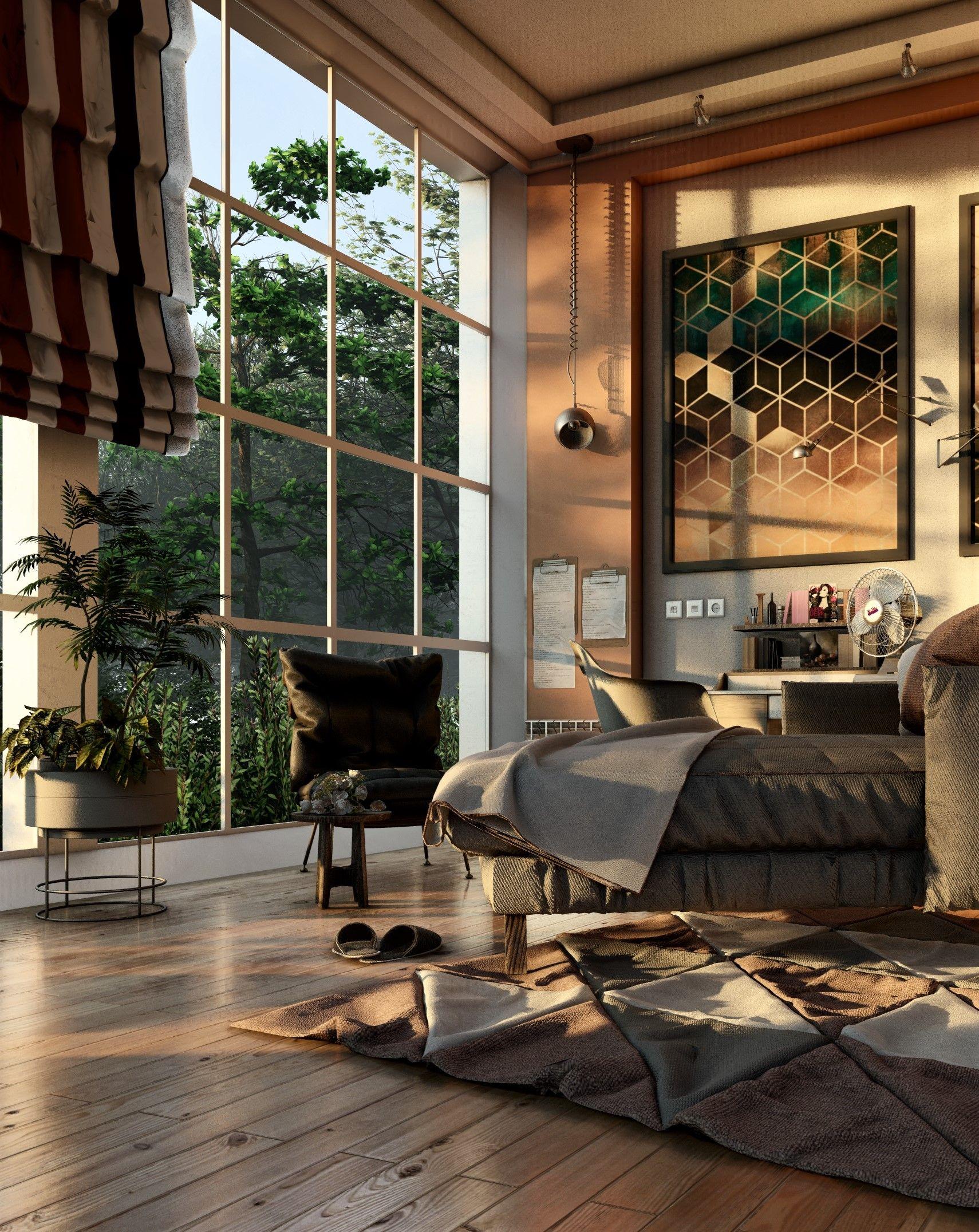 3d Room Interior Design: #Bedroom #interior, #rendered In #Lumion9 By Mostafa