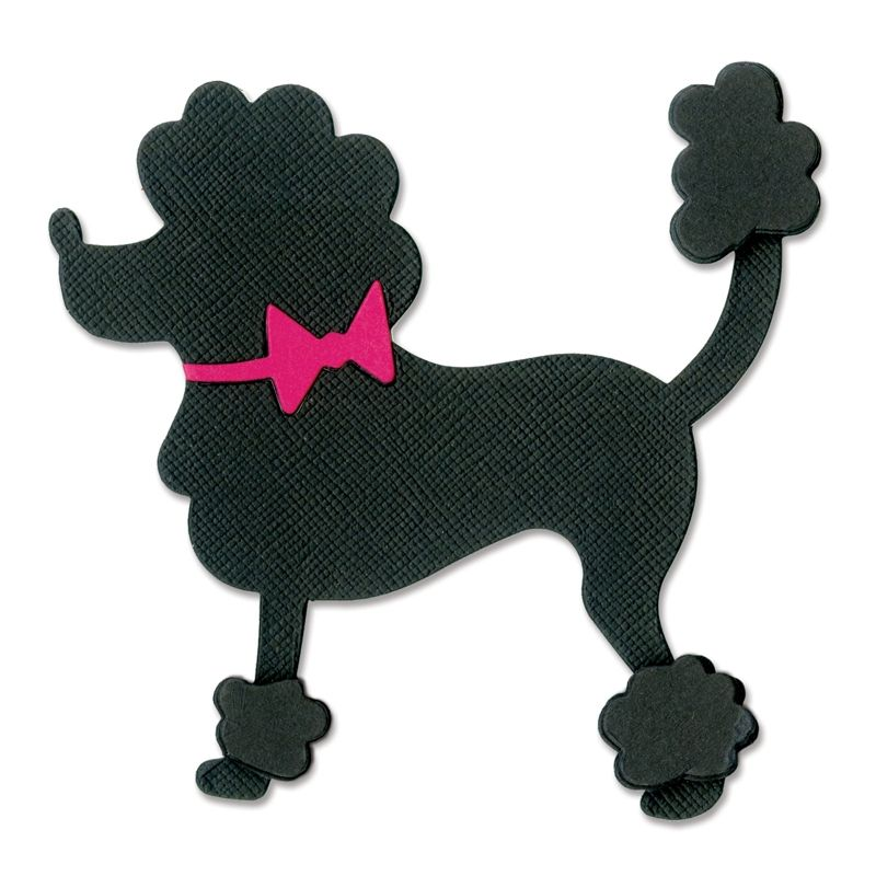 sizzix 1950s collection originals die poodle poodle sizzix rh pinterest com French Poodle Dog French Poodle Dog