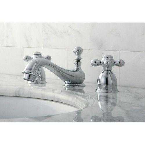 Restoration Mini Widespread Bathroom Sink Faucet with Brass Pop-up ...