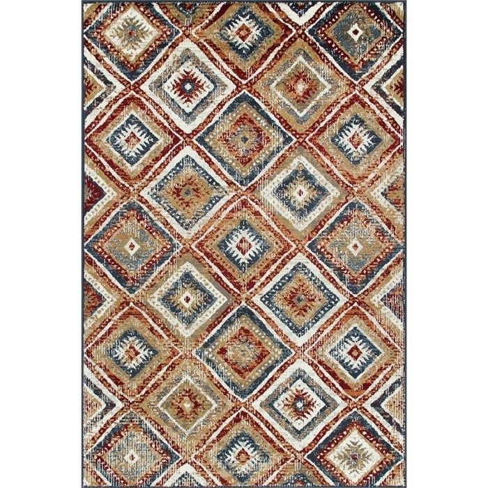 Wallington Collection Multi Colored Geometric Area Rug 1 10 X 2 11 2 X 3 Blue Area Rugs Colorful Rugs Rugs
