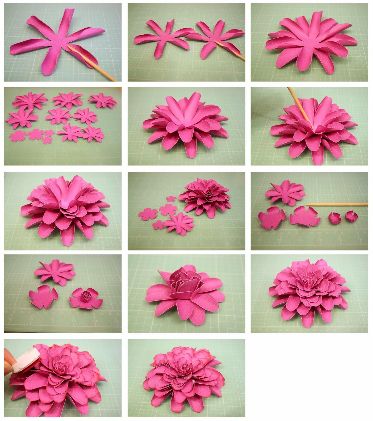 Bits Of Paper 3d Dahlia Another Mum Paper Flower Paper