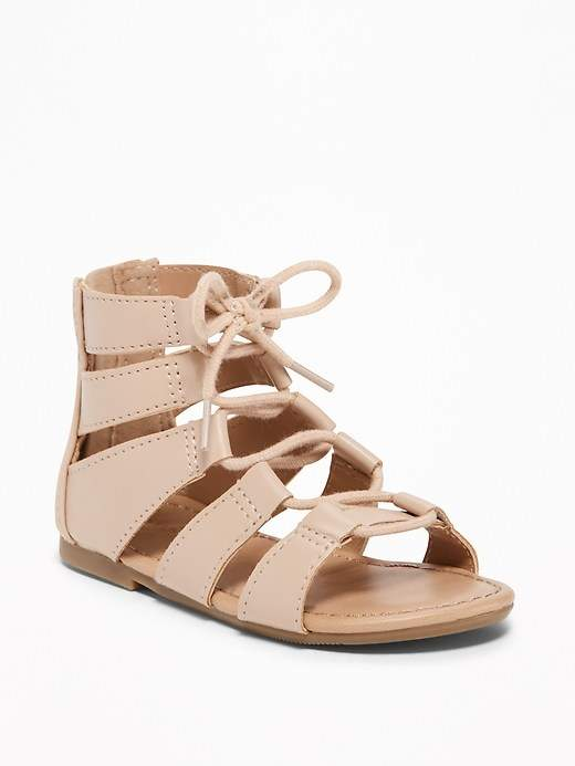 5ac44b71fb3 Old Navy Lace-Up Gladiator Sandals for Toddler Girls   Baby ...