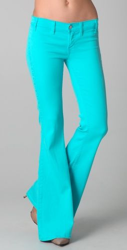 Jimi Flare Jeans | Turquoise, Colored pants and Bell bottoms
