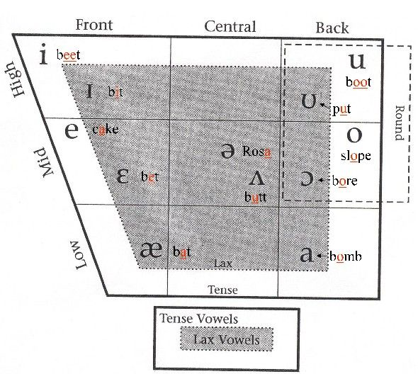 English Vowels Phonetics Chart  Luhn Engrish