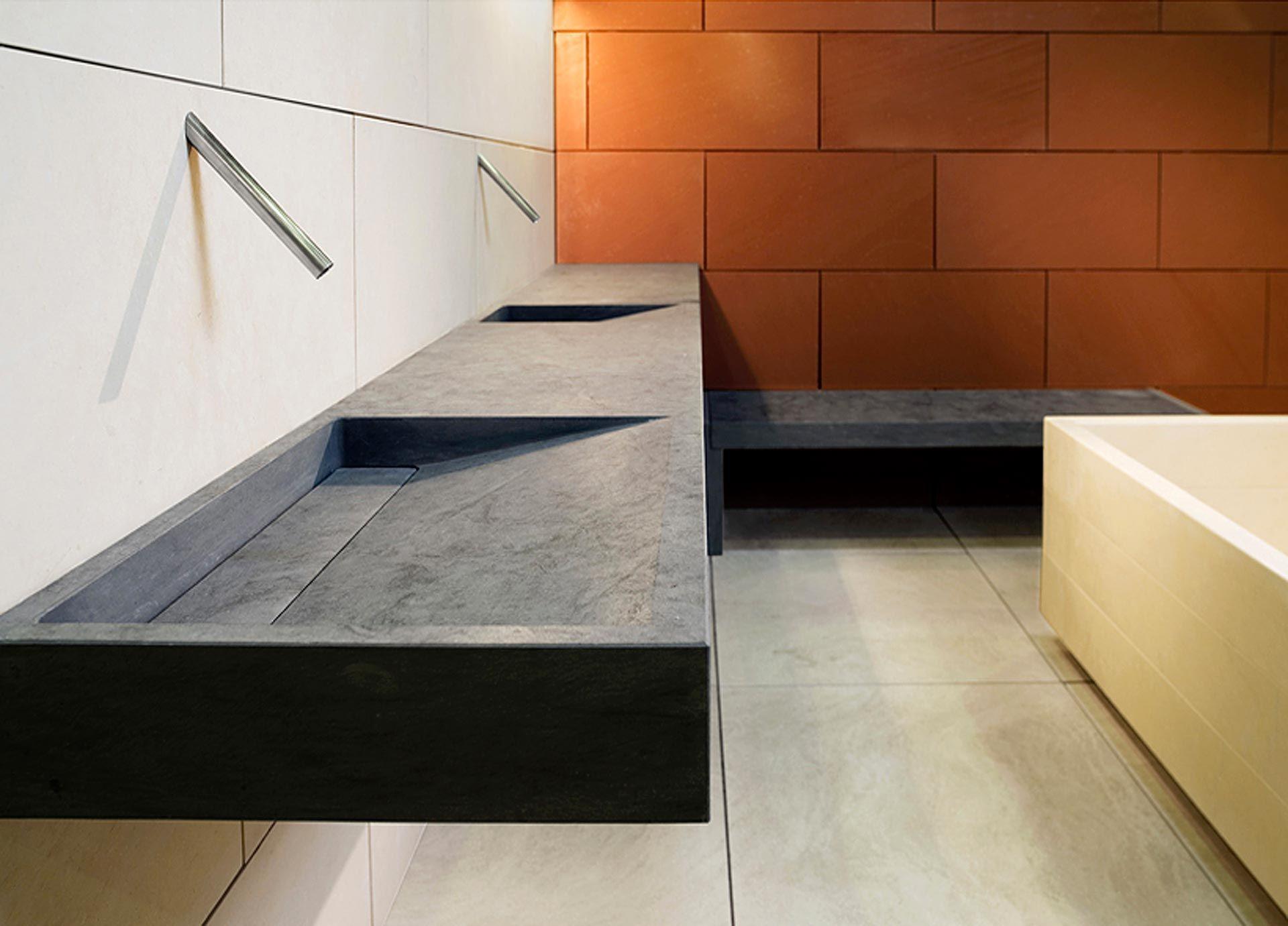 Architettura E Design Interni.Lavabo In Ardesia Architettura E Arredamento Interni Restroom