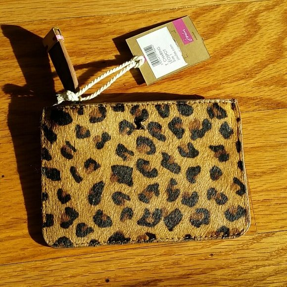 Animal print calve's hair change purse from Joules British ...