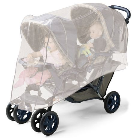 Jolly Jumper Double Stroller Net White Inches | Double ...