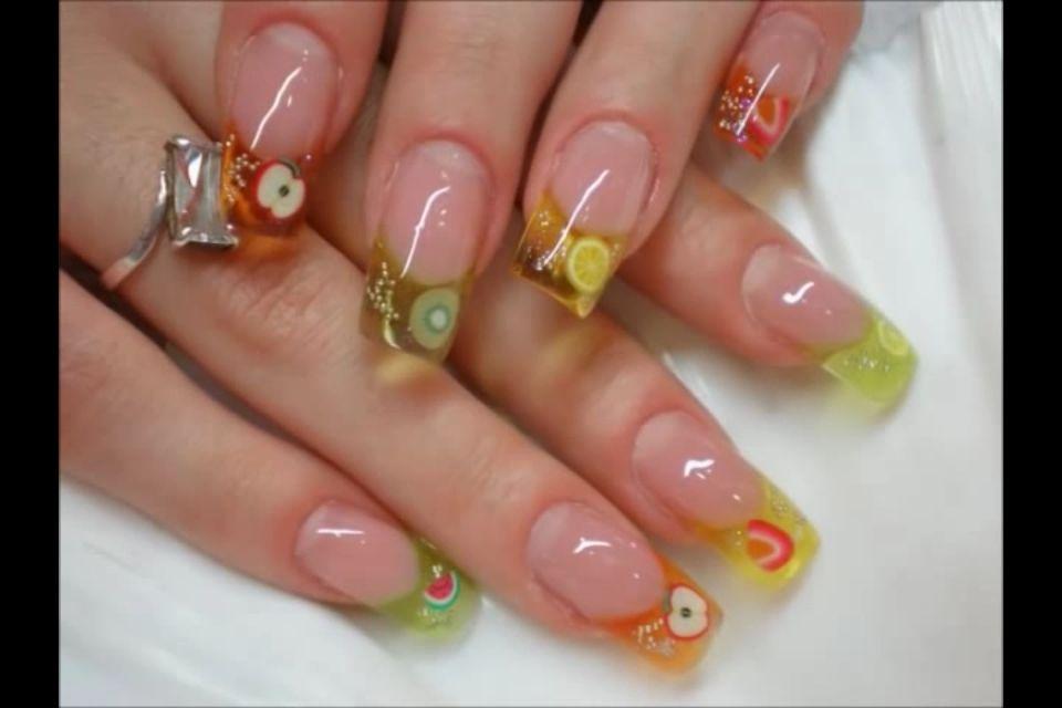 Uñas con frutas