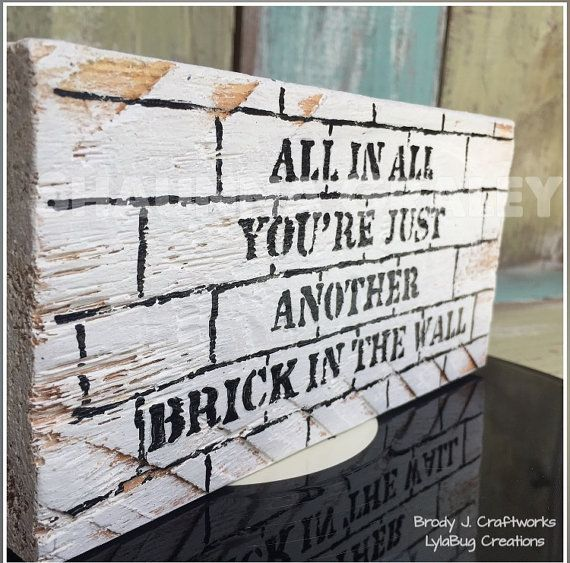 Pink Floyd Shelf Block Wooden Sign Another By Brodyjcraftworks