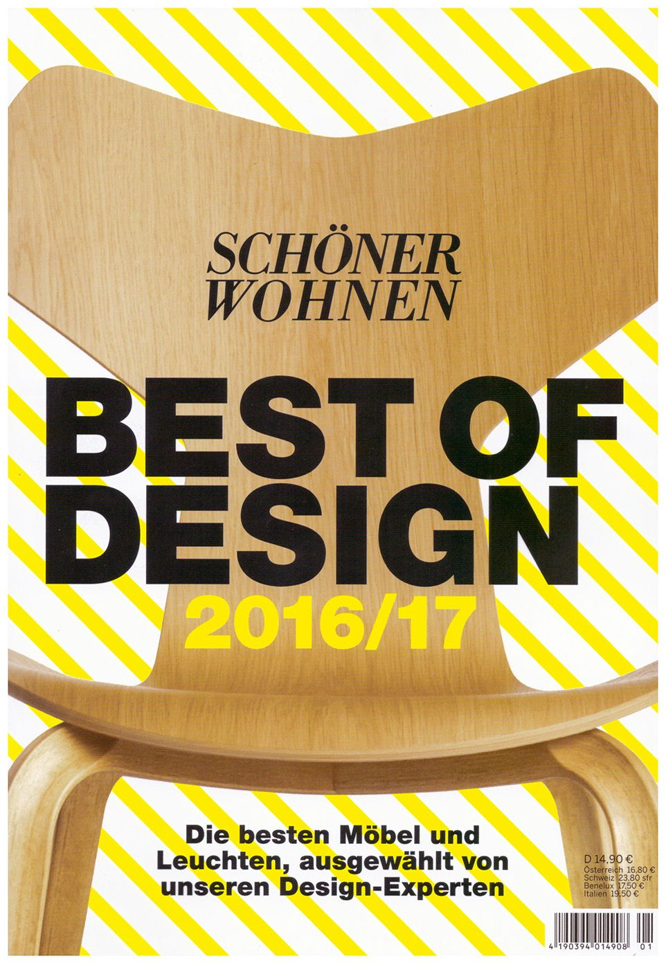 Thank You to Schöner Wohnen for featuring us in the BEST OF DESIGN Issue 2016/17!!!