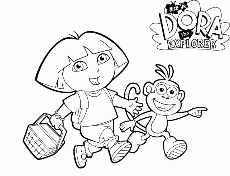 Online Dora the Explorer coloring pages | Nick Jr. Coloring Pages ...