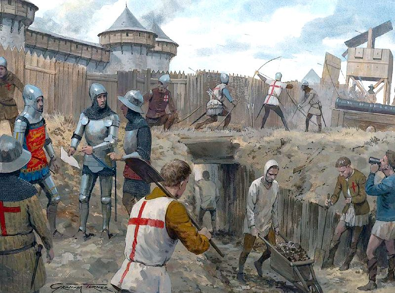 The siege of Harfleur, Normandy, France, was a military action which occurred…