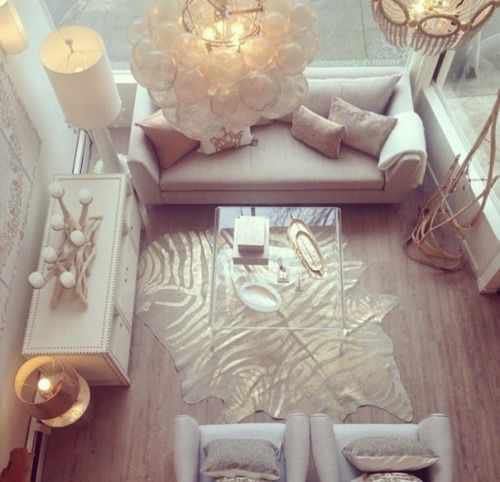 gold white girly glam decor - Google Search