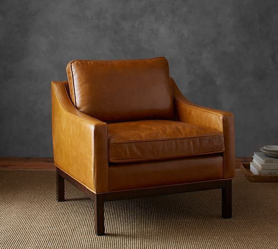 Charmant 2 Leather Chairs Paired With A Fabric Couch Would Add Texture. Dale Leather  Armchair