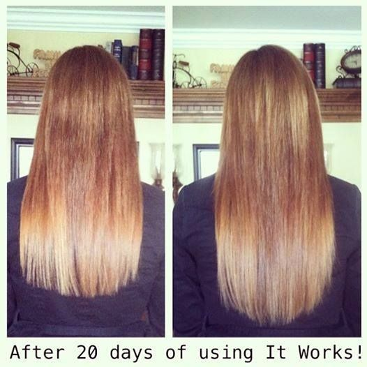 Hair, Skin, Nails from It Works! results after 20 days of use. Get your's for just $33 as a Loyal customer. For more info or to order visit our website: http://www.theultimatecrazywrap.com/hair-skin-nails.html