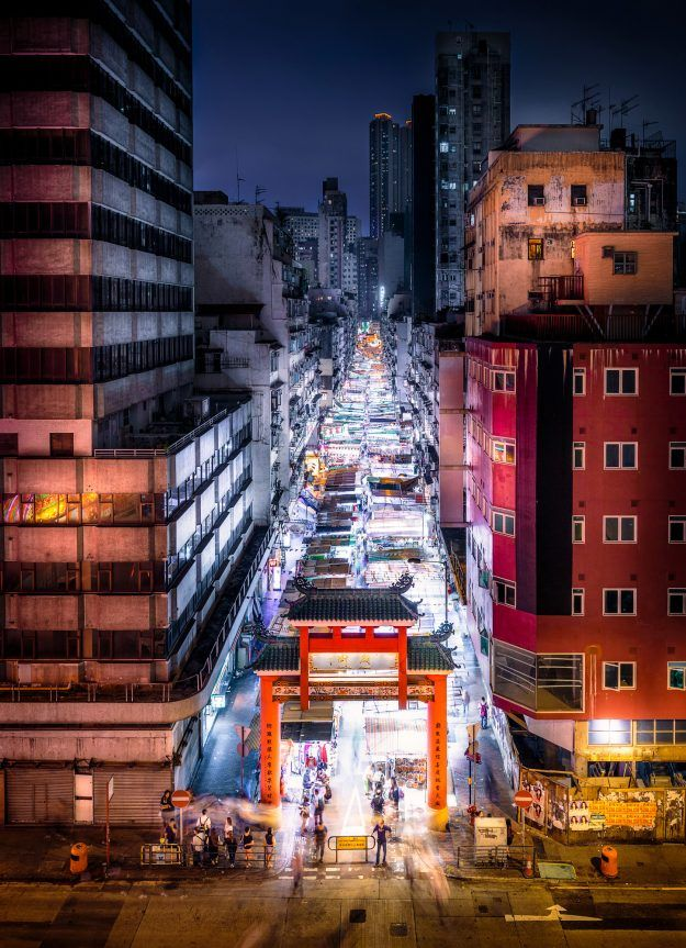 Photographer Shares Stunning Pictures Of Hong Kong Inspired By Ghost In The Shell Anime Hong Kong Night Hong Kong Night Market