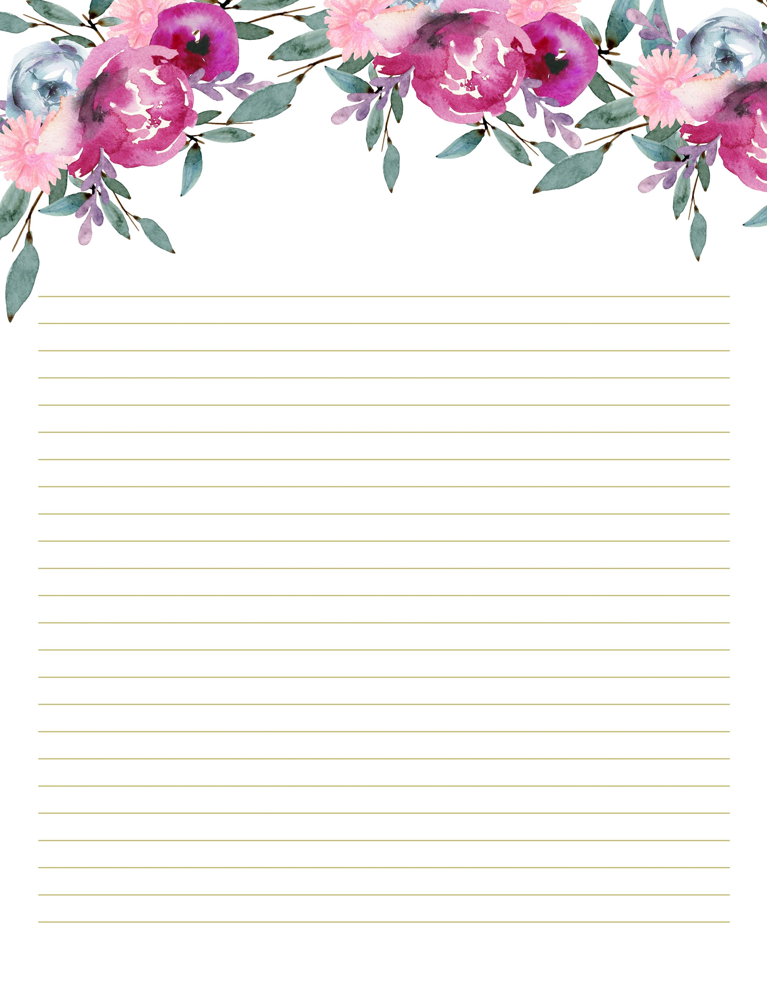 It's just an image of Bewitching Pretty Lined Paper