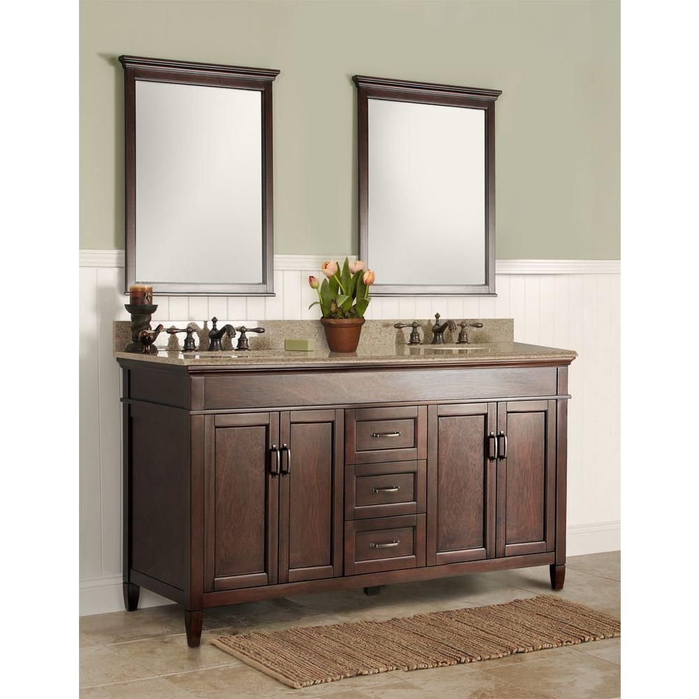 Foremost Ashburn 61 In X 22 In Vanity In Mahogany With Beige
