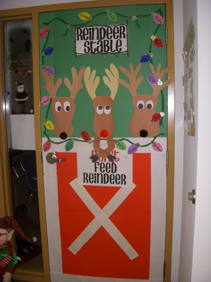 pin by kelly anderson on breakfast with santa pinterest doors bulletin board and decoration - Christmas Door Decorations For Preschool