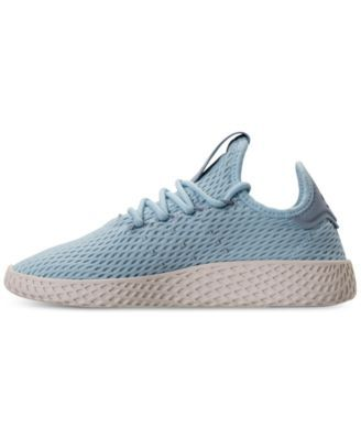 c51ce1a3c64f5 adidas Boys  Originals Pharrell Williams Tennis Hu Casual Sneakers from Finish  Line - Blue 6.5