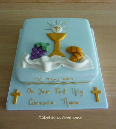 1st first holy communion cake cakes pinterest holy communion cakes communion cakes and - Holy communion cake decorations ...