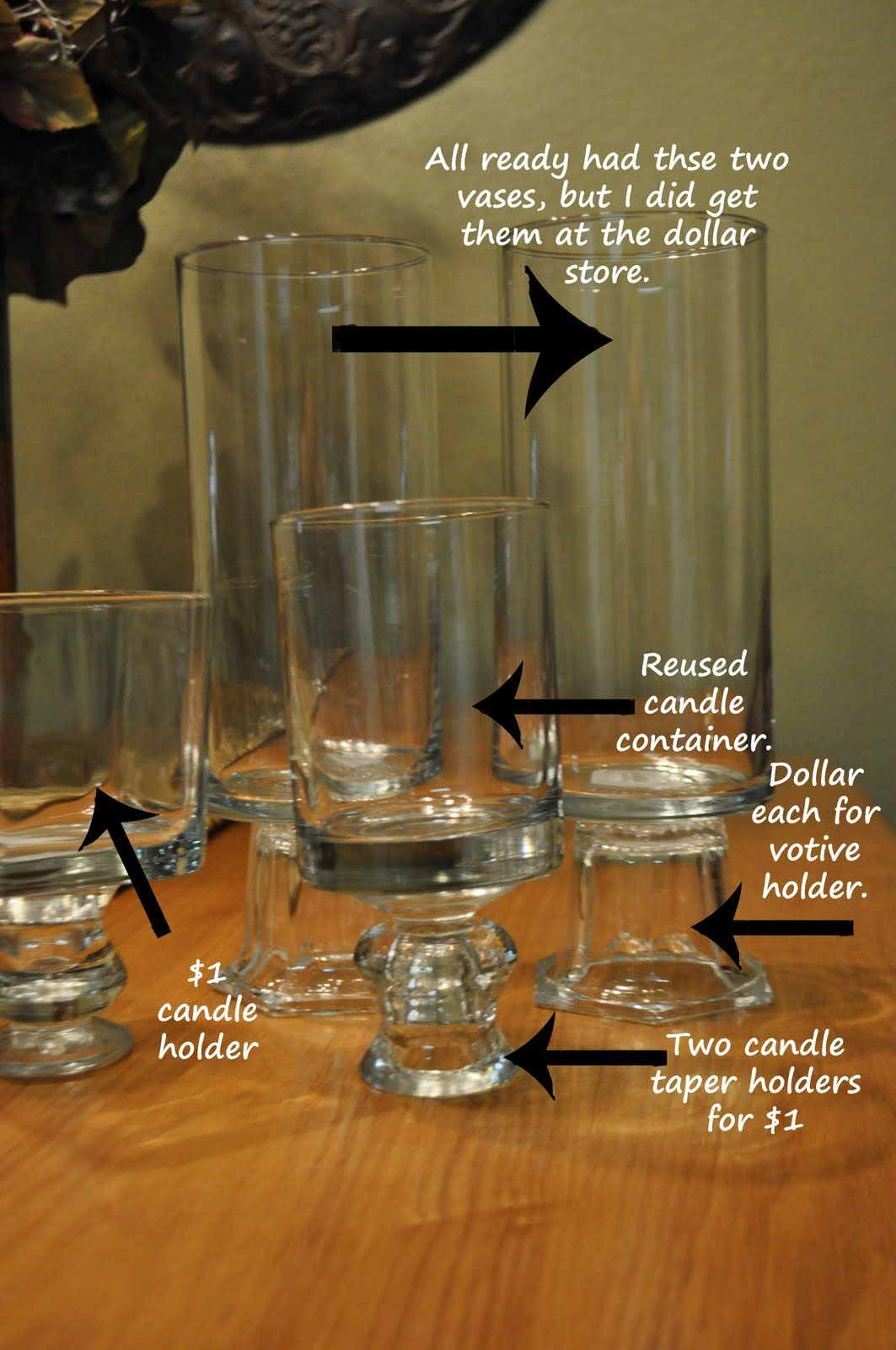 Remarkable For The Candy Bar Dollar Store Vases And Candle Sticks Interior Design Ideas Grebswwsoteloinfo