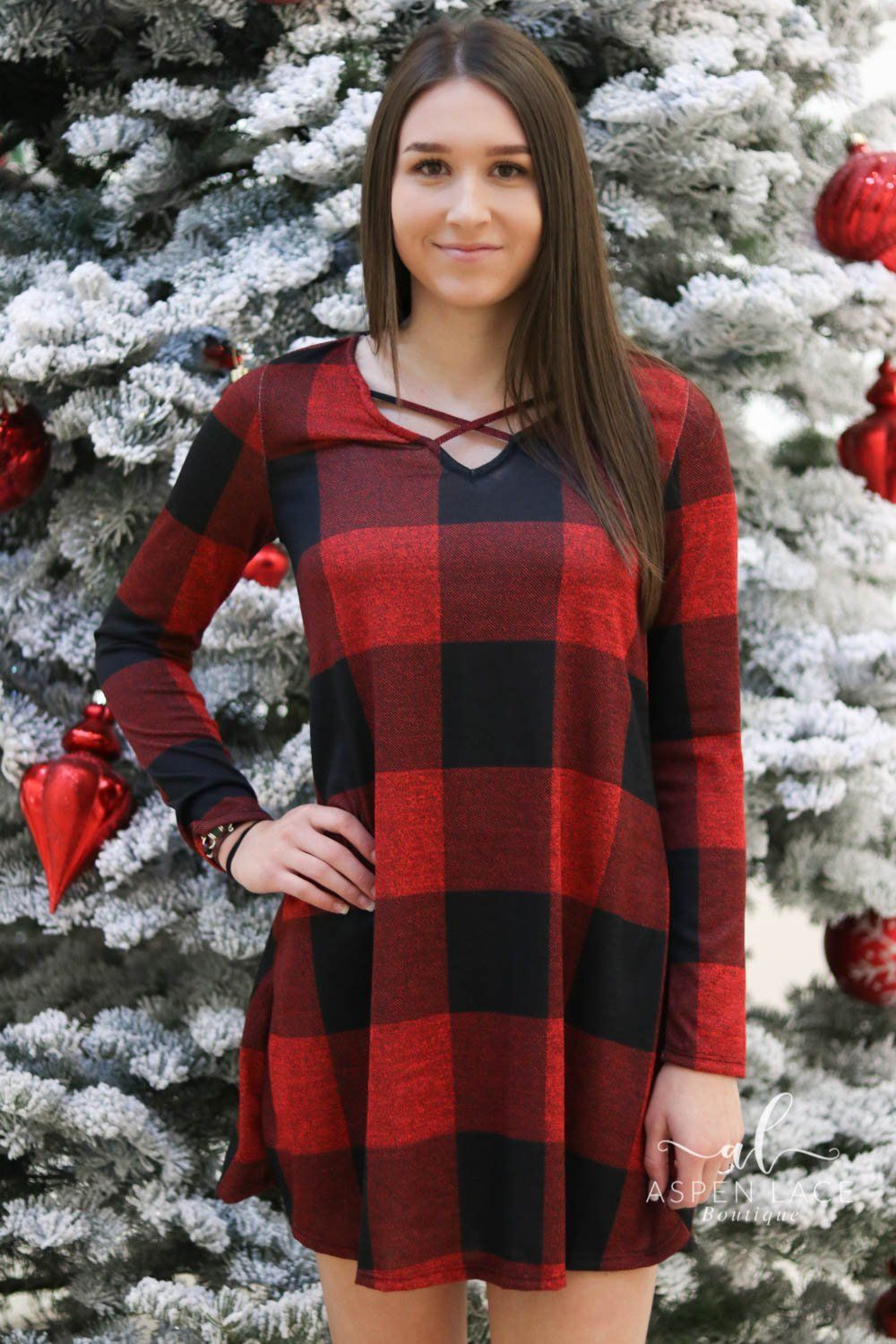 be78f6910457 Noelle Buffalo Plaid Dress (Red & Black) | Products | Plaid dress ...