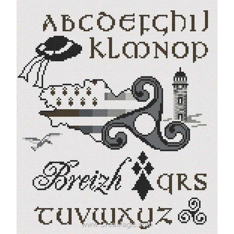 La Broderie Abecedaire Triskell De Marie Coeur 1989 4858 En 2020 Point De Croix Croix Kits De Broderie