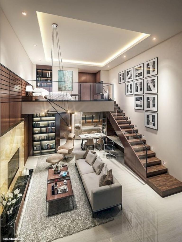 Stunning Modern Loft Decor Ideas Loft House Design Small House Interior Small House Design