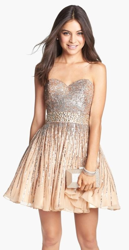 Embellished Silk Fit & Flare Dress @nordstrom | Want...Need...Love ...