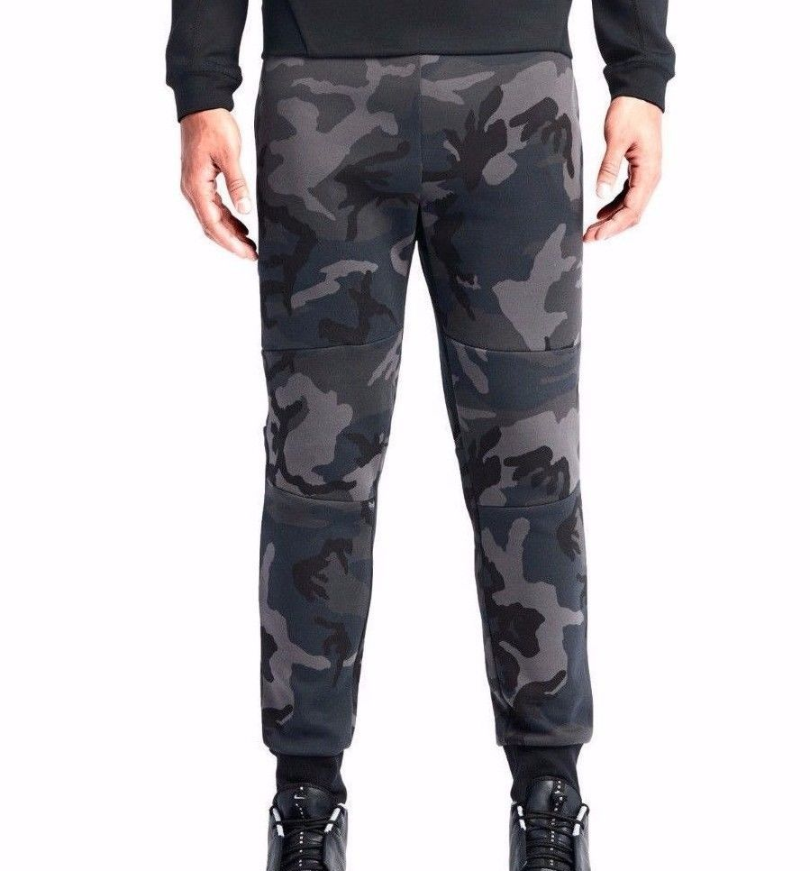 Nike Tech Fleece Jogger Mens Sweat Pants 2XL Black Grey Camo