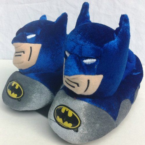 Warner Brothers Batman Dc Comics Plush Soft Sock Top Slipper Shoes Comfy Warm Boy Size 5/6, Great for Halloween, Winter Gift « Shoe Adds for your Closet