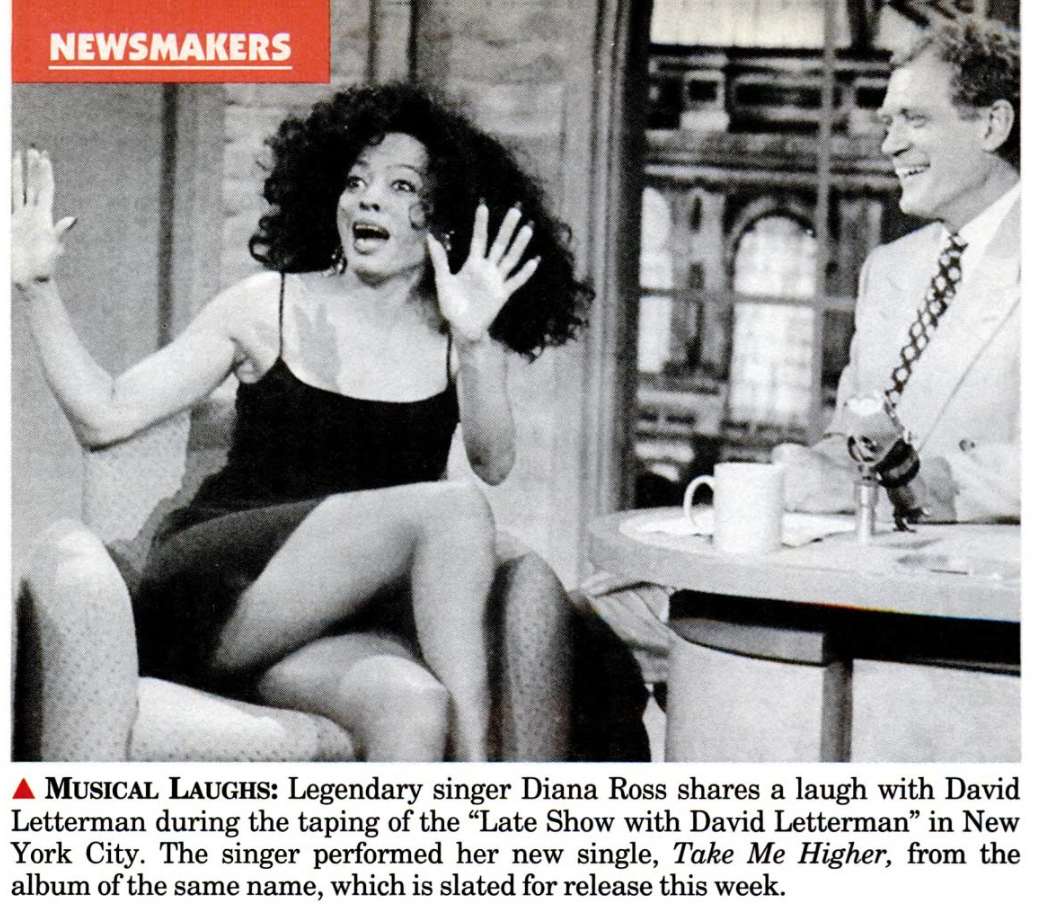 Diana Ross and David Letterman