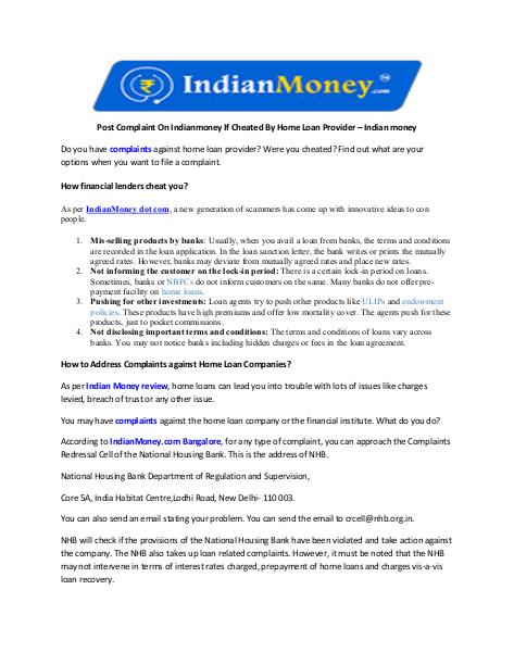Pin By Nikitha G On Indian Money Cheating Home Loans You Cheated
